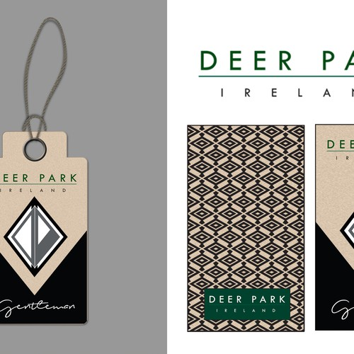 Design A Clothing Label Tag For Classic Menswear Brand