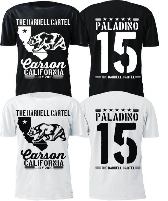 The Barbell Cartel California Themed Event T Shirt T Shirt