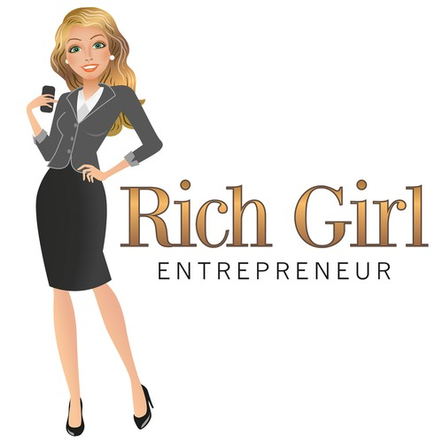 Caricature cartoon mascot to represent the Rich Girl ...