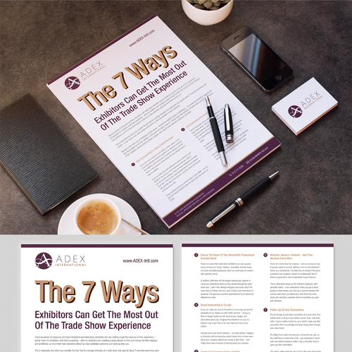 Spice up a 2 3 page guide for an innovative marketing for Innovative design company