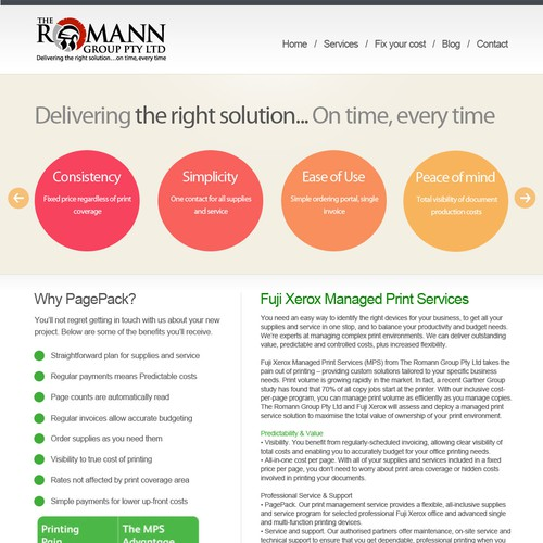 New Website Design Wanted For The Romann Group Pty Ltd Web Page Design Contest 99designs