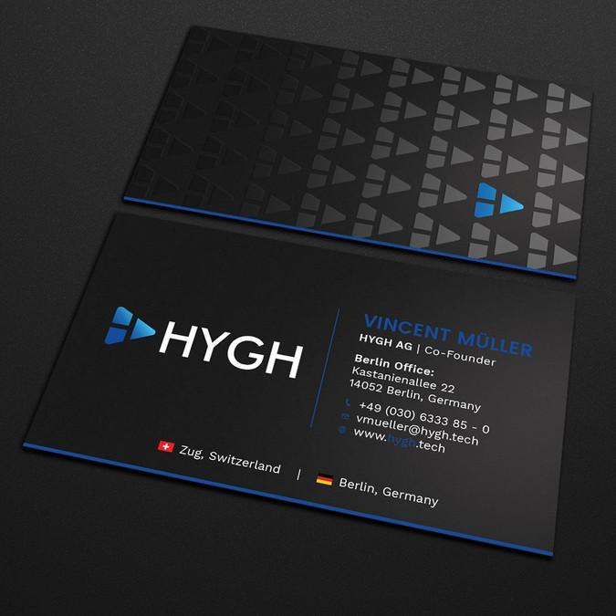 Visitenkarten Design Für Hygh Außenwerbe Platform Business