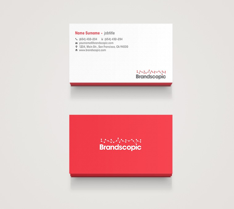 Modern, minimalist business cards wanted for marketing tech startup ...
