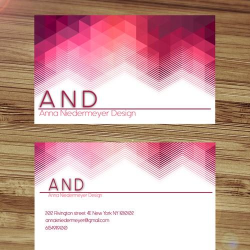 Create a beautiful designer business card Design by MidnightSky19
