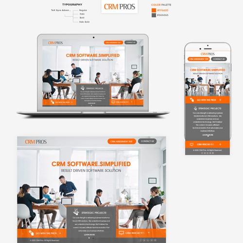 Crm Pros Business Software Development Company Web Page Design Contest 99designs