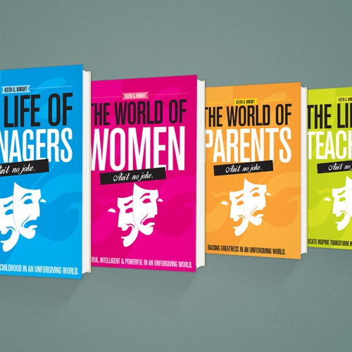 """Ain't No Joke"" Book Series Cover Design Design by ysandeepkumar"