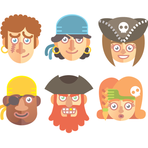 Vector Avatars for Mobile App Design by Cykique