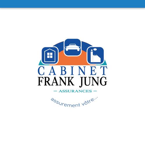cr u00e9er un logo moderne pour cabinet assurances franck jung