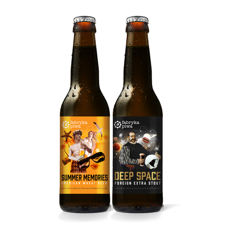 Beer labels for Fabryka Piwa Design by TristanV