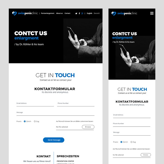 Design gagnant de Web UI Design
