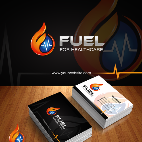 Fuel Our Healthcare Software Startup S Logo And Cards Logo Business Card Contest 99designs