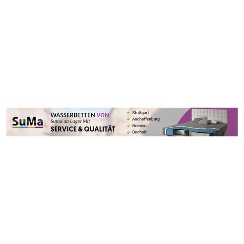SuMa Wasserbetten benötigt Premiumbanner | Banner ad contest