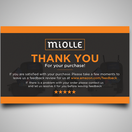 u0026quot thank you and review u0026quot  card comes with a product from amazon