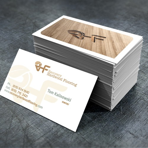 runner up design by dundo - Flooring Business Cards