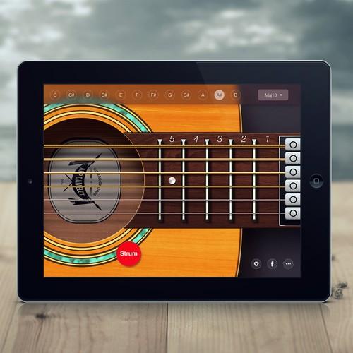 Mobile App Home Screen Redesign: Guitar Chords Mobile App Redesign (2 Screens)