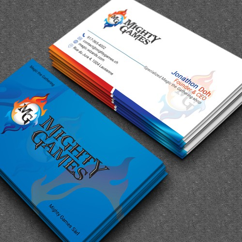 Create A Business Card For Mighty Games Business Card Contest