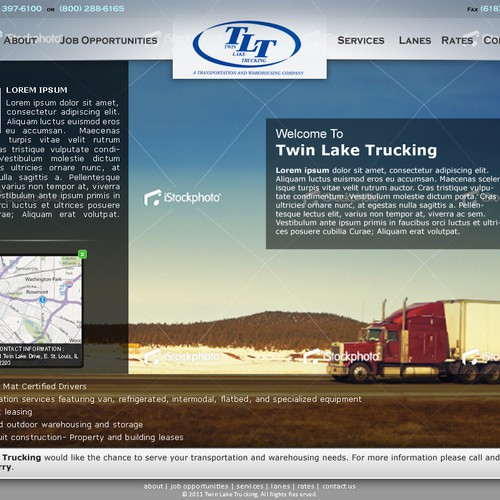 Create the next website design for a Trucking company | Web page