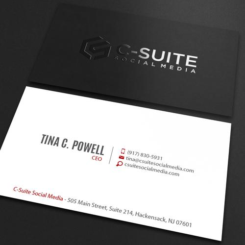 Design a modern business card for c suite social media concurso design finalista por an designer reheart Images