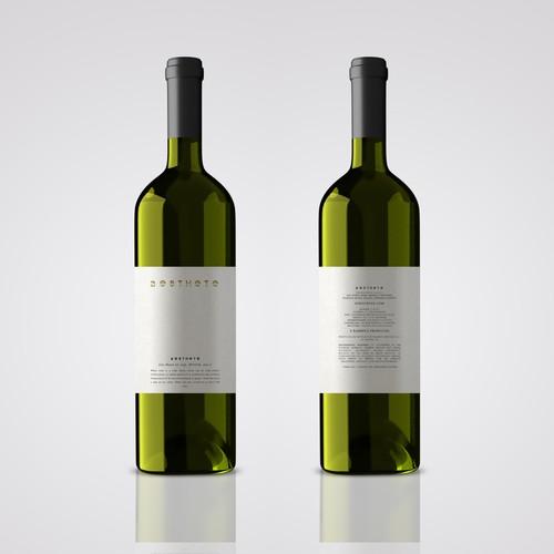 Minimalistic wine label needed Design by Alem Duran