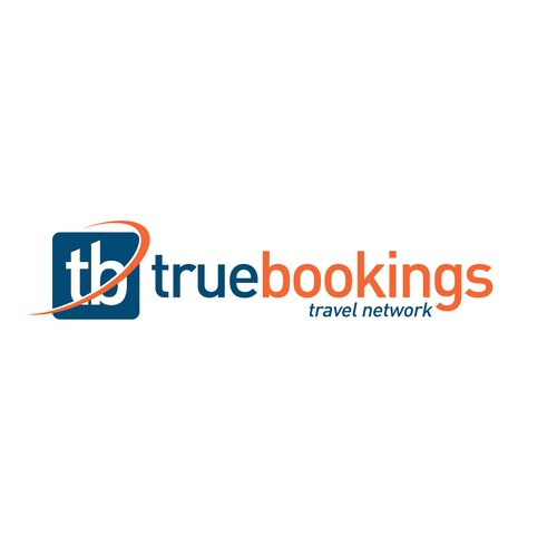 design a modern and organic logo for true bookings travel