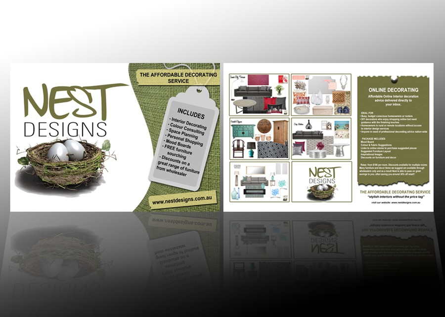 Nest Designs needs a postcard sized promotional flyer ...