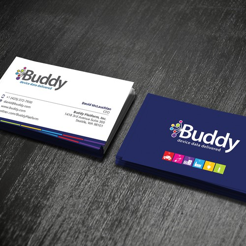 Gorgeous business cards needed for buddy business card contest runner up design by brand war colourmoves