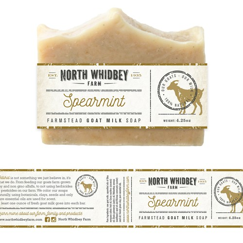 Create a striking soap label for our natural soap company with more work in the future Design von Mj.vass
