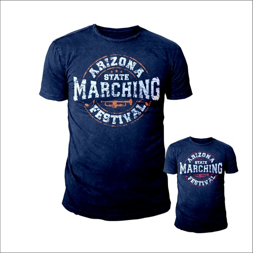 Marching Band Competition Shirt Design Simple Fun Colorful T