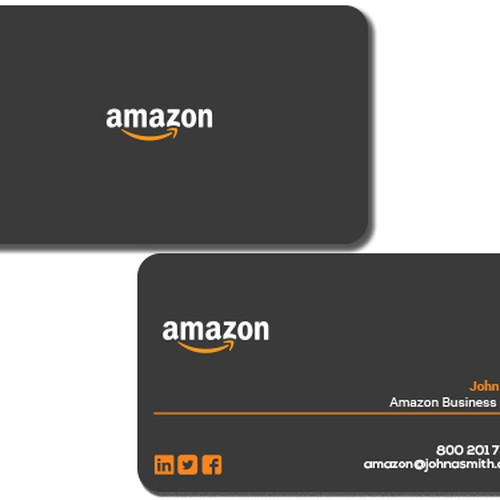 Business card design for amazon business owner business card contest runner up design by pigpoppy reheart Images