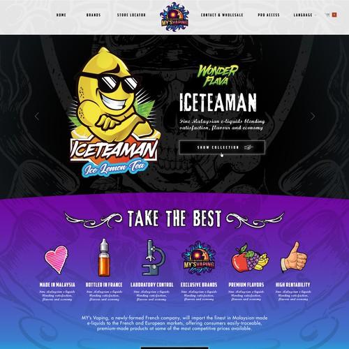 MYS VAPING need his new website   concurso Design de Site