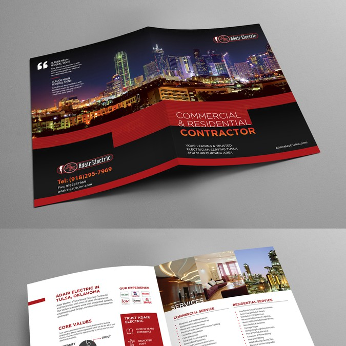 Classy Brochure for an Electrical Contractor - Companies