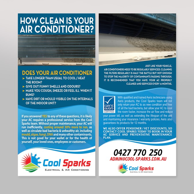 air conditioning service flyer that looks healthy and clean