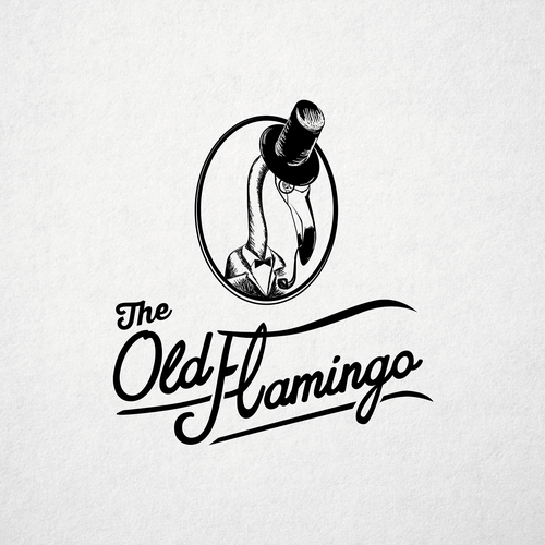 Create hip logo for THE OLD FLAMINGO that specializes in eclectic, vintage, upcycled furniture finds Design by Katerina Lebedeva