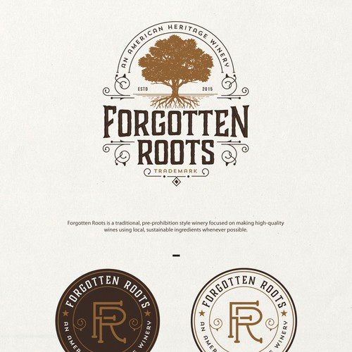 Create a Winery Logo for Forgotten Roots! Design von Project 4