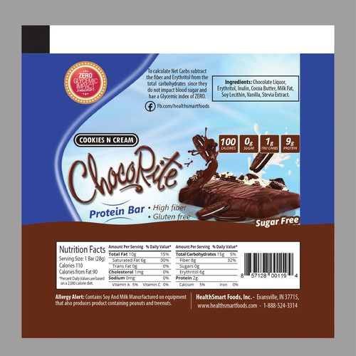 Protein bar wrapper   Product packaging