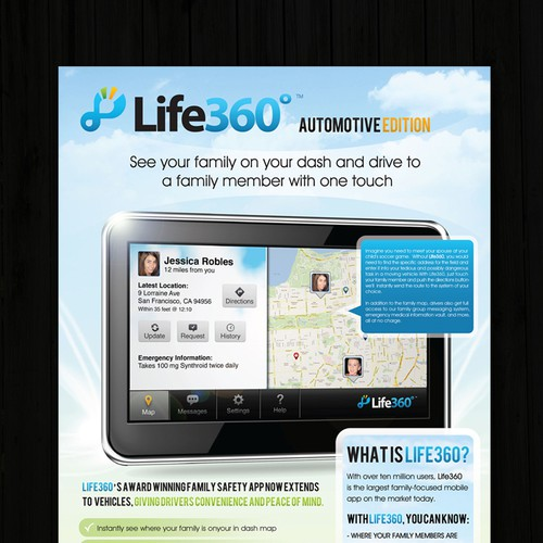 Life360 Needs a One Page Marketing Teaser | Print or