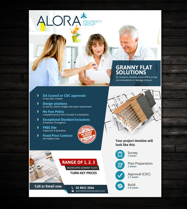 Create A Flyer Perfect For Selling Granny Flats Kit Homes