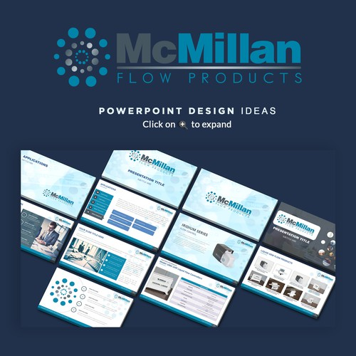 mcmillan flow powerpoint template パワーポイントコンペ
