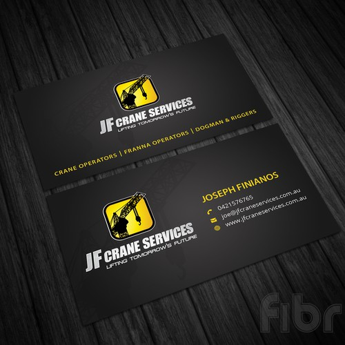 Creative bussiness cards for a crane company business card contest runner up design by fibr colourmoves