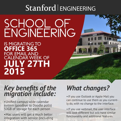 Office 365 migration awareness poster stanford university poster wettbewerb - Office de migration internationale ...