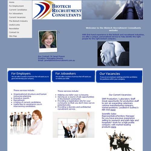 Ontwerp van finalist mchs_webmaster