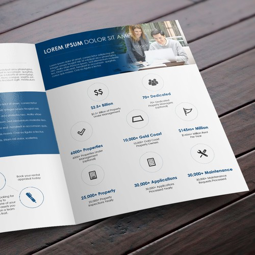 Blind 4 Page Classy Brochure For Real Estate Agency