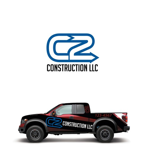 Create a strong visual image to represent C2 Construction.   Logo ...