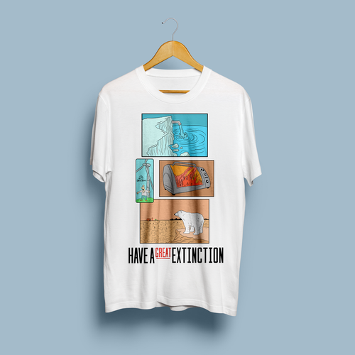 Funny T-shirt design for a serious subject. Design by Bara Abimanyu