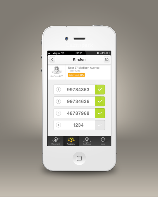 Design vencedor por CalmSpark App Design