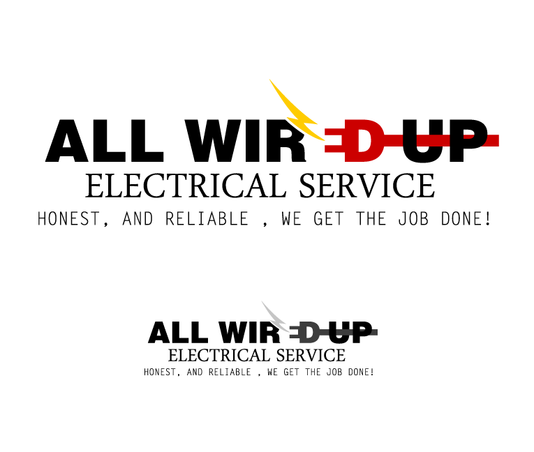logo for All Wired Up Electrical Service | Logo & business card contest