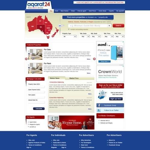 Diseño finalista de Webdesigner.avinash