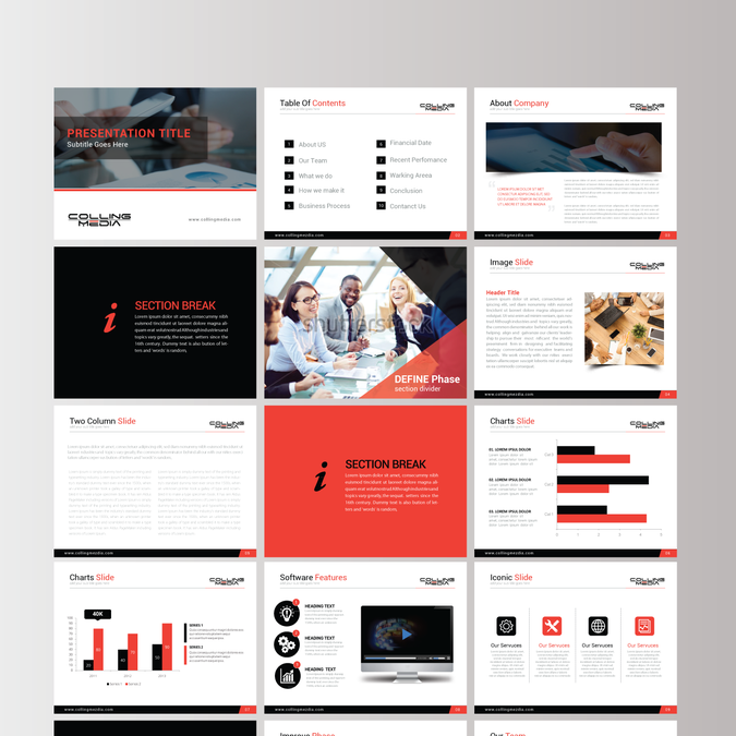 Power Point Template For Case Studies And Client