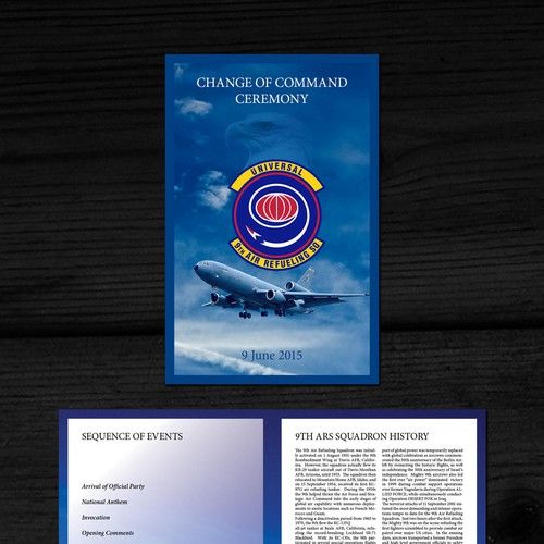 Brochure (Program) for US Air Force Retirement Ceremony