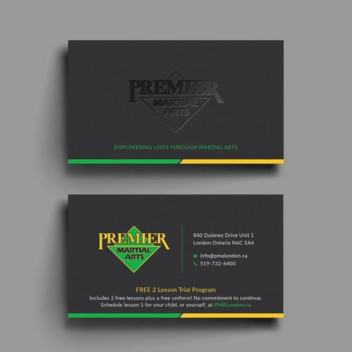 Premier martial arts business card design business card contest runner up design by tanlearn reheart Images